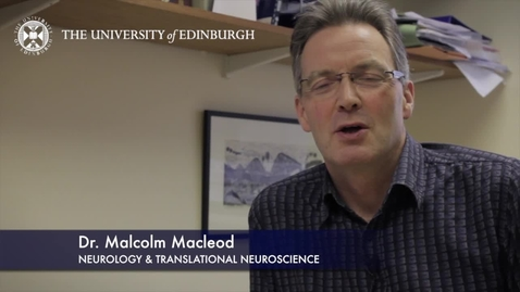 Thumbnail for entry Malcolm Macleod- Neurology & Transnational Neuroscience-Research In A Nutshell- MRC Institute of Genetic and Molecular Medicine-17/05/2012