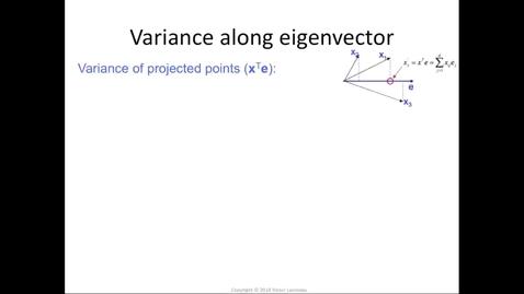 Thumbnail for entry Eigenvalue = variance along eigenvector