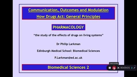 Thumbnail for entry BMS2: How Drugs Act Part 1 Dr Phil Larkman