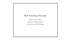 Thumbnail for entry Advanced Vision: Ball tracking with the Kalman filter