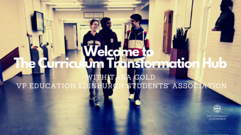 Thumbnail for entry Welcome to the Curriculum Transformation Hub Student Landing Page