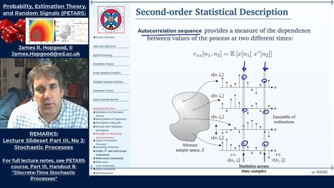 Thumbnail for entry Topic 60: Statistical Description of Random Processes (PETARS, Chapter 8)