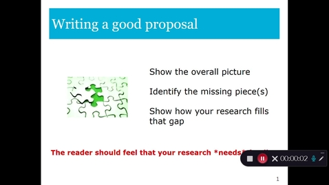 Thumbnail for entry Proposing and publishing research Part 2