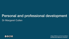 Thumbnail for entry Margaret Cullen: Personal and professional development theme