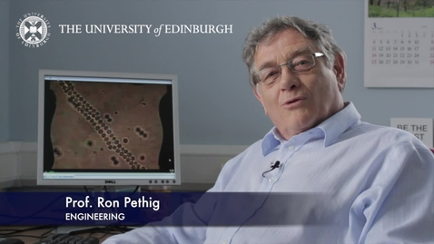 Thumbnail for entry Ron Pethig - Engineering- Research In A Nutshell - School of Engineering -26/03/2013