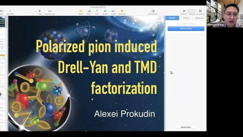 Thumbnail for entry REF2020: Alexei Prokudin- Polarized pion induced Drell-Yan and TMD factorization