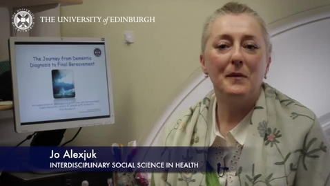 Thumbnail for entry Jo Alexjuk -Interdisciplinary Social Science in Health - Research In A Nutshell- School of Health in Social Science-17/04/2014