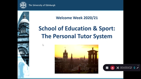 Thumbnail for entry MHSES_Welcome_Week_2020/21_Personal Tutoring
