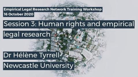 Thumbnail for entry ELRN 2020 Session 3 - Dr Hélène Tyrrell