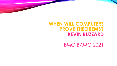 Thumbnail for entry BMC BAMC 2021 Kevin Buzzard