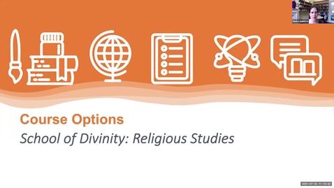 Thumbnail for entry Course options: Religious Studies