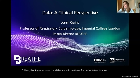 Thumbnail for entry Data: a Clinical Perspective