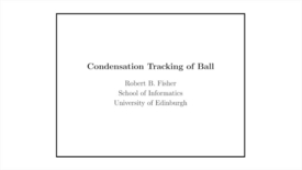 Thumbnail for entry Advanced Vision: Ball tracking with Condensation Tracking