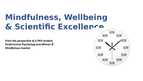 Thumbnail for entry Wellbeing and Scientific Excellence (24th Nov 2020): Anne