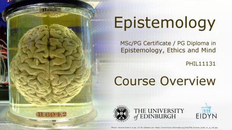 Thumbnail for entry EEM - Epistemology Overview