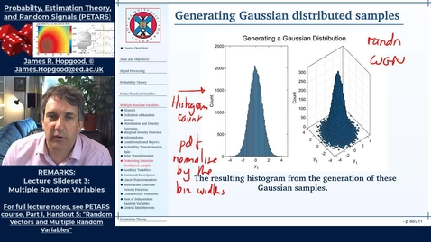 Thumbnail for entry Topic 32: Generating Gaussian Samples (PETARS, Chapter 5)