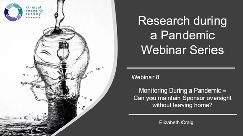 Thumbnail for entry Research During a Pandemic Series - Monitoring During a Pandemic