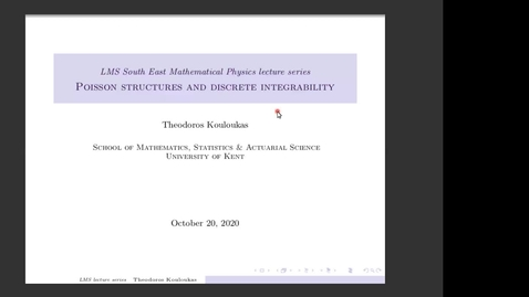 Thumbnail for entry South East Mathematical Physics Seminars: Theodoros Kouloukas (Lecture 3)