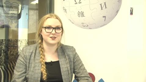 Thumbnail for entry Wikipedia in the Classroom - Psychology student Karoline Nanfeldt