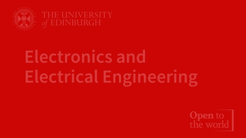 Thumbnail for entry Electronics & Electrical Engineering (EEE) virtual open day video