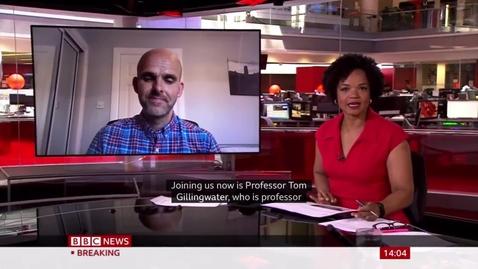 Thumbnail for entry Tom Gillingwater BBC News 1 June 2021