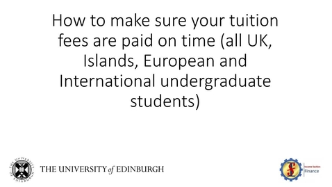 Thumbnail for entry (UG) How to Pay Undergraduate Tuition Fees and Related Costs