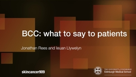 Thumbnail for entry BCC: What to say to patients?