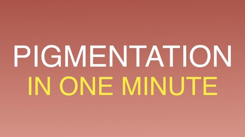 Pigment biology in one minute.