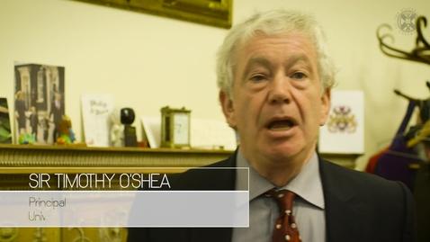 Thumbnail for entry Professor Sir Tim O'Shea, The Principal, University of Edinburgh