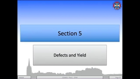 Thumbnail for entry 4a - Defects and Yields