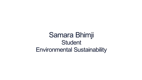 Thumbnail for entry Hear from our students:  MSc Environmental Sustainability