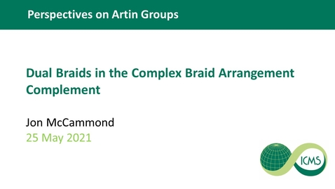 Thumbnail for entry Dual Braids in the Complex Braid Arrangement Complement - Jon McCammond