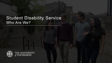 Thumbnail for entry Student Disability Service - Who Are We