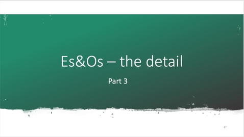 Thumbnail for entry Part 3 Experiences and Outcomes (Es&Os) in detail October 4th 2020, 10:06:42 am