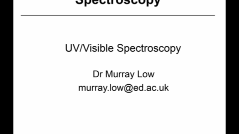 Thumbnail for entry 17 - UV-Vis Spectroscopy