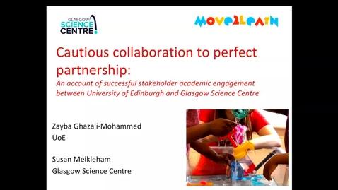 Thumbnail for entry DE seminar: Zayba Ghazali-Mohammed and Susan Meikleham