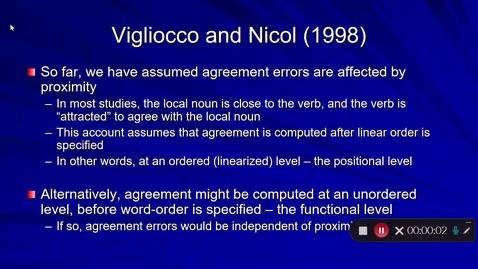 Thumbnail for entry Language Production Lecture 7 Part 21