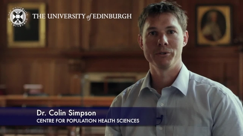 Thumbnail for entry Colin Simpson -Centre for Population Health Sciences-Research In A Nutshell- MRC Institute of Genetic and Molecular Medicine-28/05/2012