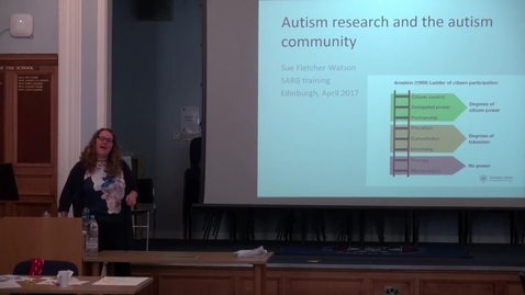 Thumbnail for entry Sue Fletcher-Watson (University of Edinburgh) | Autism research and the autism community