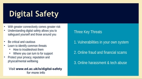 Thumbnail for entry How to be a digital citizen and stay safe online