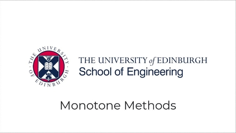 Thumbnail for entry Partial Differential Equations, Lecture 8a: Monotone Methods for Conservation Laws
