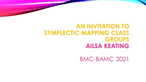 Thumbnail for entry BMC BAMC 2021 Ailsa Keating