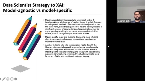Thumbnail for entry XAI Lecture Recording - Framework for XAI (Part 2)