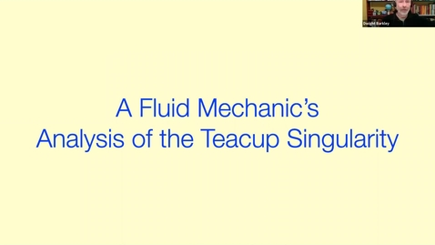 Thumbnail for entry A fluid mechanic's analysis of the teacup singularity - Dwight Barkley