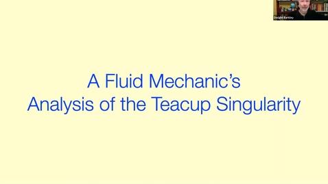 Thumbnail for entry A fluid mechanic's analysis of the teacup singularity - Dwight Barkley