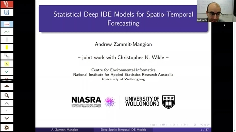 Thumbnail for entry Andrew Zammit Mangion (University of Wollongong)  Title: Statistical Machine Learning for Spatio-Temporal Forecasting