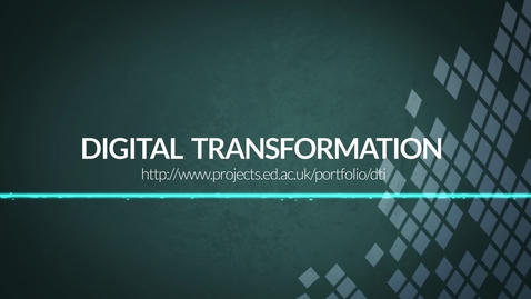 Thumbnail for entry A short introduction to Digital Transformation