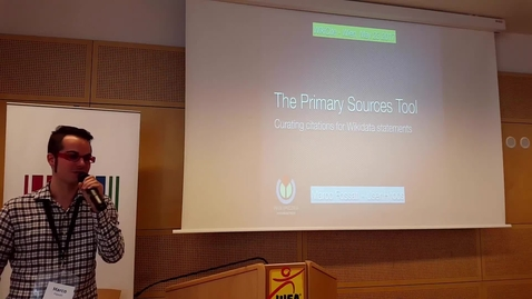 Thumbnail for entry The Primary Sources Tool: Curating citations for Wikidata statements (Marco Fossati)