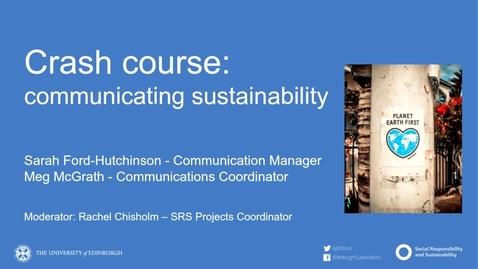 Thumbnail for entry Crash course - communicating sustainability