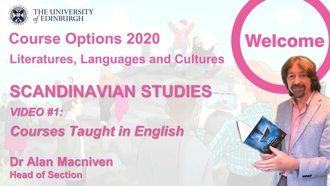 Thumbnail for entry Scandinavian Studies - Course Options Video 1 - Culture and Literature